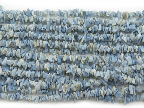 Blue Opal Chip Beads ~ 34'' Strand