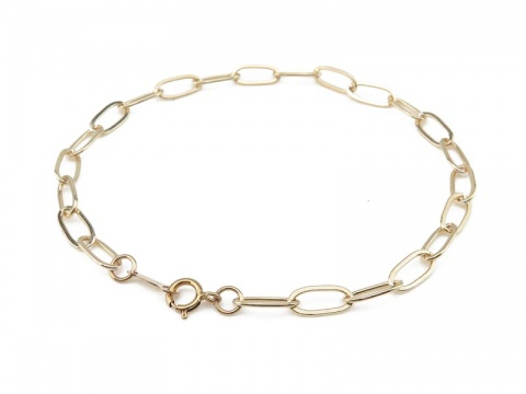 Gold Filled Drawn Cable Chain Bracelet ~ 7.25''