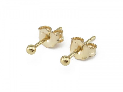 Gold Filled Ball Ear Studs 2mm ~ PAIR