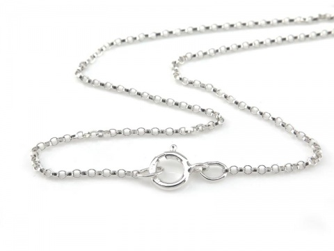 Sterling Silver Rolo (1.3mm) Necklace with Spring Clasp ~ 16''