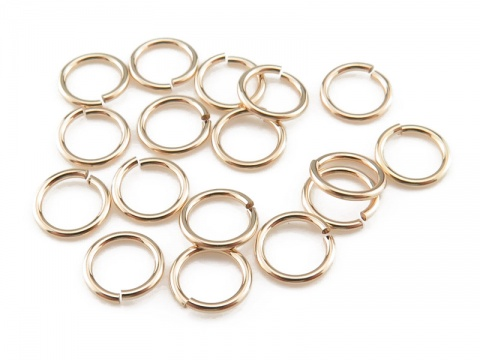 Gold Filled Open Jump Ring 5mm ~ 22ga ~ Pack of 10