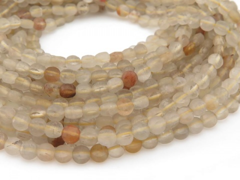 AA Golden Rutilated Quartz Faceted Coin Beads 3.75mm ~ 12.5'' Strand