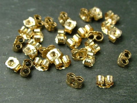 Gold Filled Ear Scroll/Butterfly 5mm