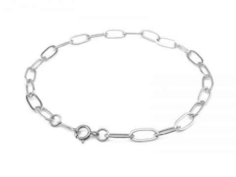 Sterling Silver Drawn Cable Chain Bracelet ~ 7.25''