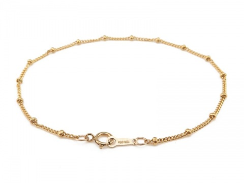 Gold Filled Satellite Chain Bracelet ~ 7''