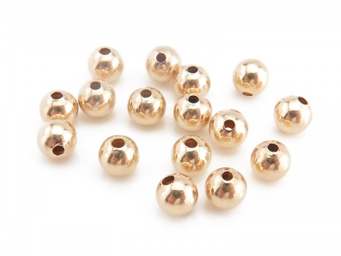 Gold Filled Plain Bead 4mm ~ Pack of 10
