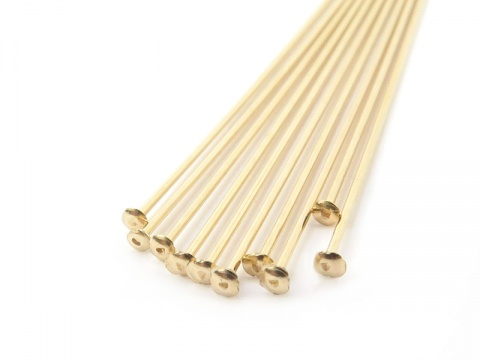 Gold Filled Head Pin ~ 26 gauge ~ 1'' ~ Pack of 10