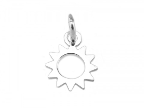 Sterling Silver Sun Charm 8mm