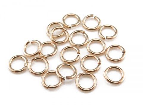 Gold Filled Open Jump Ring 4mm ~ 22ga ~ Pack of 10