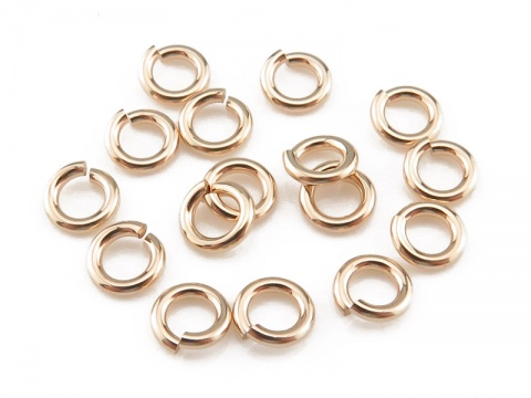 Gold Filled Open Jump Ring 4mm ~ 20ga ~ Pack of 10