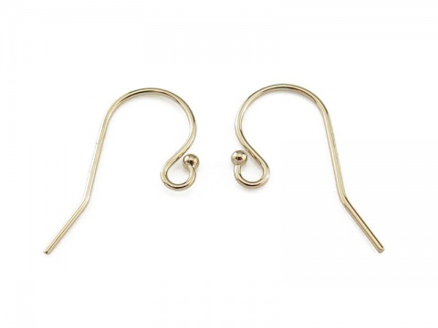 Gold Filled Ball End Ear Wire ~ PAIR