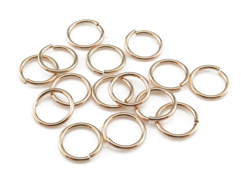 Gold Filled Open Jump Ring 6mm ~ 22ga ~ Pack of 10