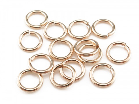 Gold Filled Open Jump Ring 6mm ~ 20ga ~ Pack of 10