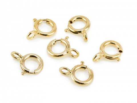 Gold Filled Spring Ring Clasp w/Closed Ring 5mm
