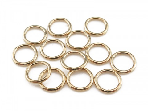 Gold Filled Closed Jump Ring 6mm ~ 20ga ~ Pack of 10