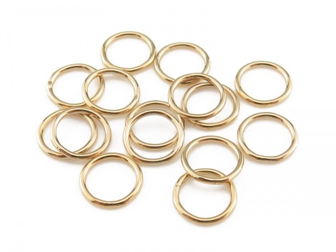 Gold Filled Closed Jump Ring 6mm ~ 22ga ~ Pack of 10