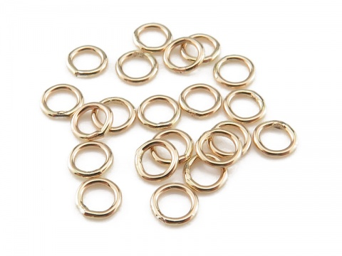 Gold Filled Closed Jump Ring 4mm ~ 22ga ~ Pack of 10