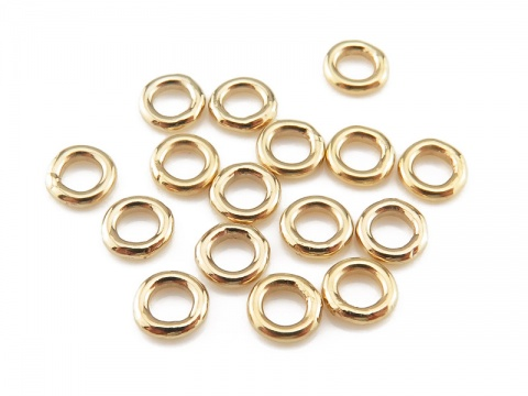 Gold Filled Closed Jump Ring 4mm ~ 20ga ~ Pack of 10
