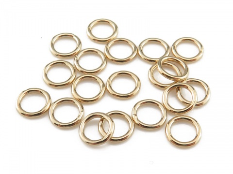 Gold Filled Closed Jump Ring 5mm ~ 20ga ~ Pack of 10