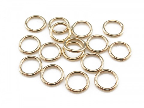 Gold Filled Closed Jump Ring 5mm ~ 22ga ~ Pack of 10