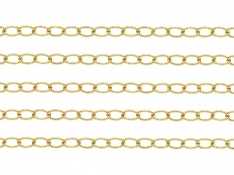 Gold Filled Cable Chain 3 x 2.2mm ~ by the Foot