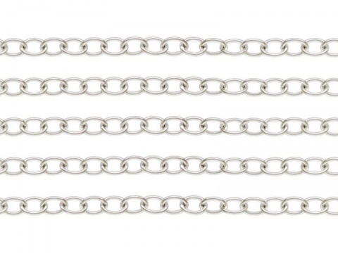 Sterling Silver Cable Chain 3.25 x 2.5mm ~ by the Foot