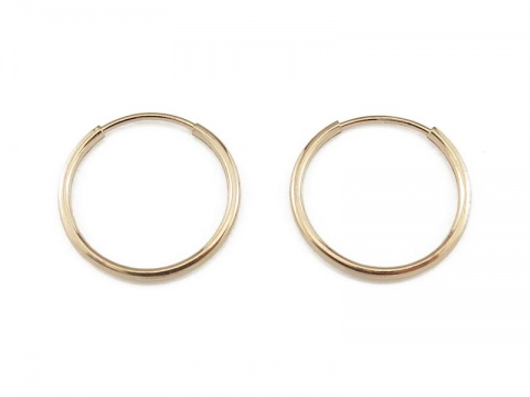 Gold Filled Earring Hoop 16mm ~ PAIR