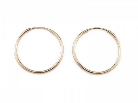 Gold Filled Earring Hoop 20mm ~ PAIR