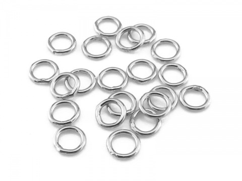 Sterling Silver Closed Jump Ring 4mm ~ 22ga ~ Pack of 10