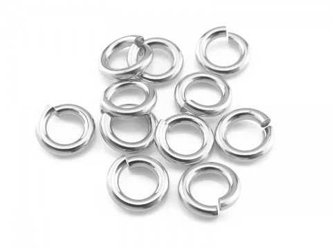 Sterling Silver Open Jump Ring 5mm ~ 18ga ~ Pack of 10