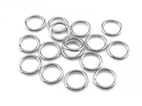 Sterling Silver Closed Jump Ring 5mm ~ 22ga ~  Pack of 10