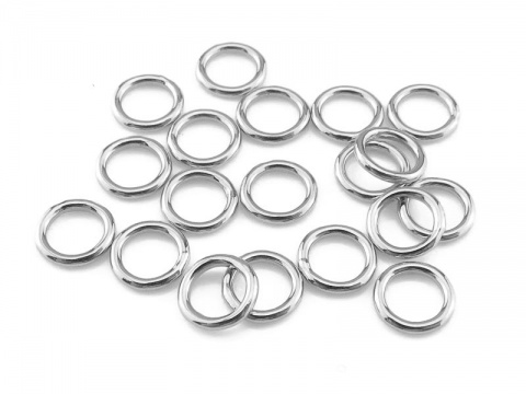 Sterling Silver Closed Jump Ring 5mm ~ 20ga ~  Pack of 10