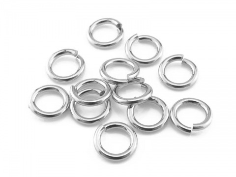 Sterling Silver Open Jump Ring 6mm ~ 18ga ~ Pack of 10