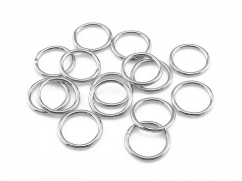 Sterling Silver Closed Jump Ring 6mm ~ 22ga ~ Pack of 10