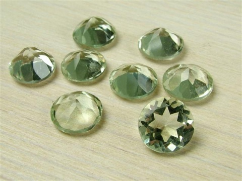Green Amethyst Faceted Round ~ Various Sizes