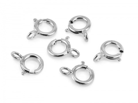Sterling Silver Spring Ring Clasp w/Closed Ring 5mm