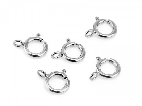 Sterling Silver Spring Ring Clasp w/Closed Ring 6mm