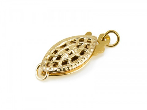 Gold Filled Filigree Fish Hook Clasp 15mm