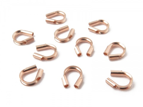 Rose Gold Filled Wire Protector 0.021'' ~ Pack of 10