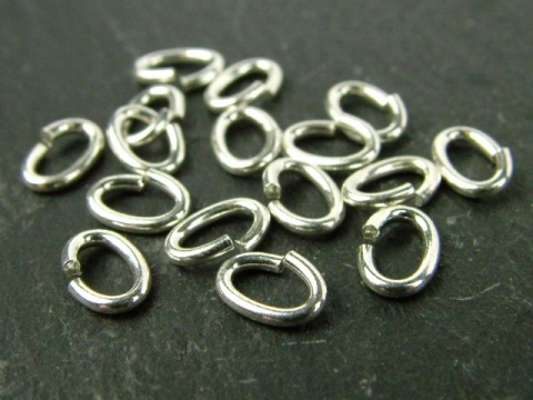 Sterling Silver Oval Open Jump Ring 5.5mm ~ 20ga ~ Pack of 20