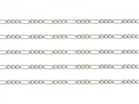 Sterling Silver Figaro Chain 3.25mm ~ by the Foot