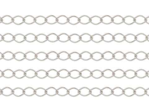 Sterling Silver Curb Chain 4 x 2.75mm ~ Offcuts