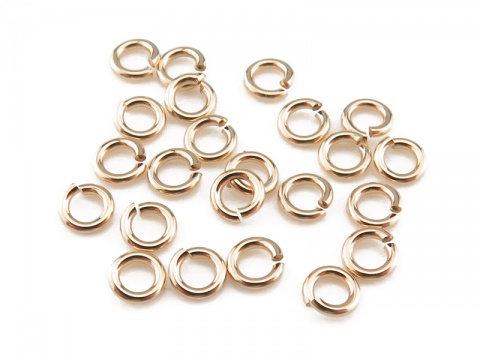 Gold Filled Open Jump Ring 3mm ~ 22ga ~ Pack of 20