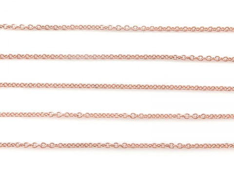 Rose Gold Filled Cable Chain 1.3mm  x 1.2mm ~ by the Foot