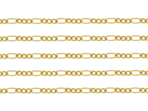 Gold Filled Figaro Chain 3.75mm x 1.75mm ~ Offcuts