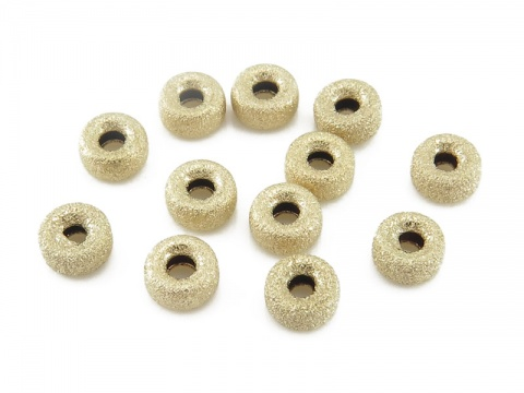 Gold Filled Stardust Rondelle Bead 4mm