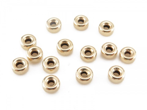 Gold Filled Smooth Rondelle Bead 3mm