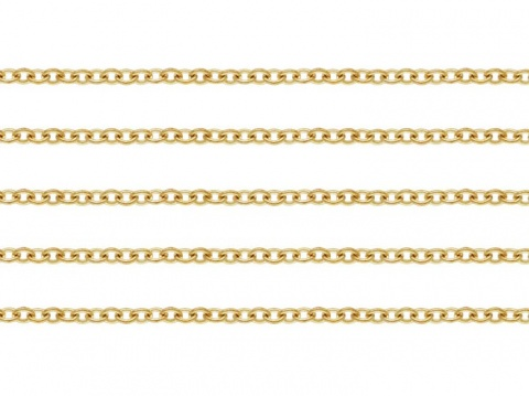 Gold Filled Cable Chain 1.3mm x 1.2mm ~ by the Foot