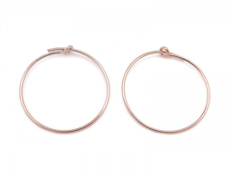 Rose Gold Filled Beading Hoop 20mm ~ PAIR