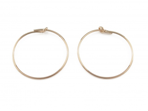 Gold Filled Beading Hoop 20mm ~ PAIR